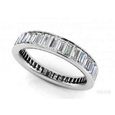 3.00CT CHANNEL SET STRAIGHT BAGUETTE ETERNITY WEDDING BAND