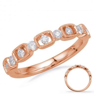 1/3 Carat ROSE GOLD DIAMOND FASHION RING 14K