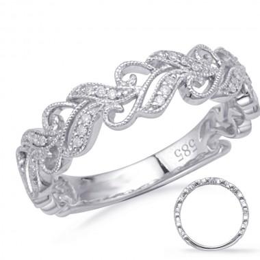 White GOLD DIAMOND FASHION RING 14K .10ctw