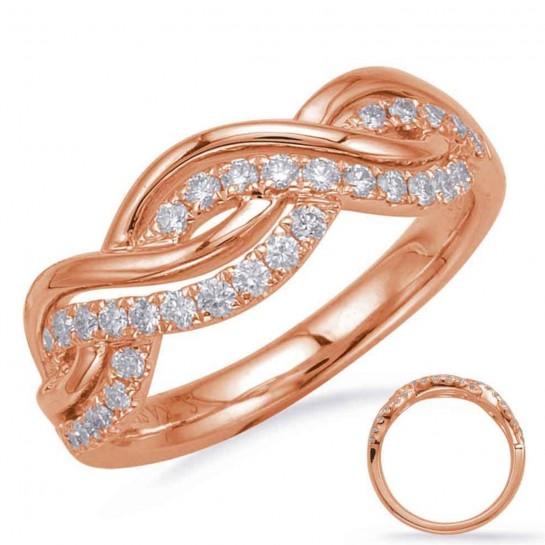 1/3 ctw White GOLD DIAMOND FASHION TWIST RING