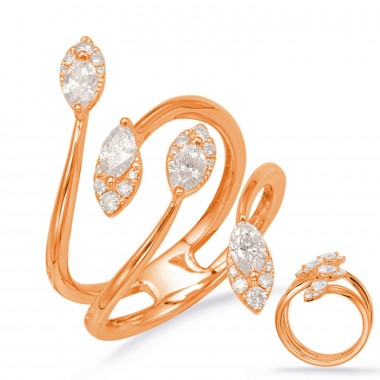 3/4 ctw ROSE GOLD DIAMOND FASHION RING
