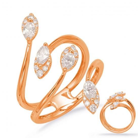 3/4 ctw ROSE GOLD DIAMOND FASHION RING