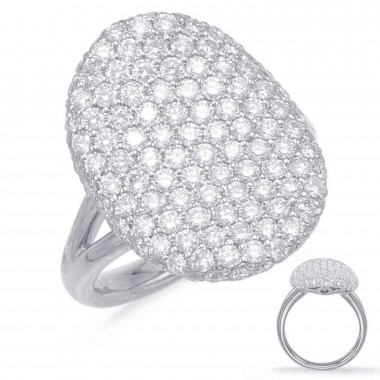 2 Carat Diamond WHITE GOLD PAVE RING 20mm 132 Stones G VS SI