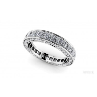 10.50 ctw Emerald Cut Eternity Band (avail in 3.50ct,4.50ct,5.50ct, 6.50ct, 7.50ct,8.50ct, 9.50ct, 10.50ct)