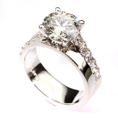 Platinum Diamond Custom Engagement Ring